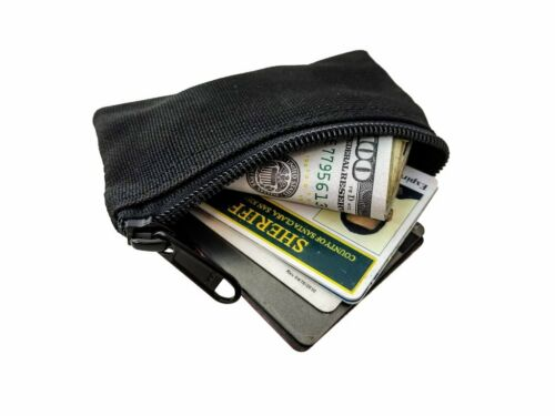 BLACK Maratac Deep Cover Clip Pouch Zipper Wallet Gen 2 NEW USA