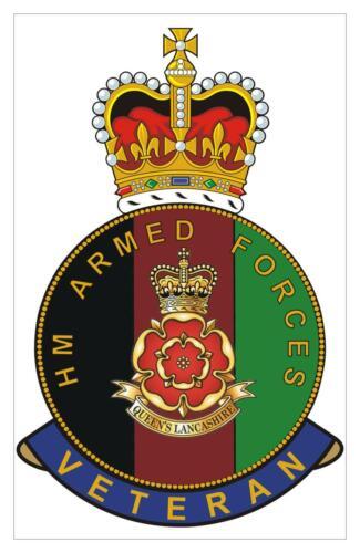Classic  HM armed Forces QLR Queens Lancashire Regiment Veterans Sticker