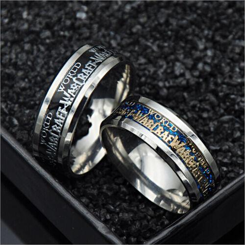 NICE World of Warcraft Horde 316 L en acier inoxydable Hommes Femmes Band Ring Taille 7-11