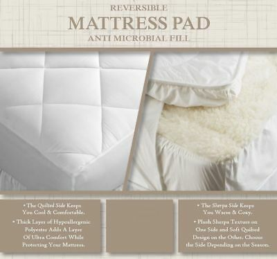 Soft /& Cozy Heated Sherpa Plush Mattress Pad With 2 Controllers Queen New In Pkg