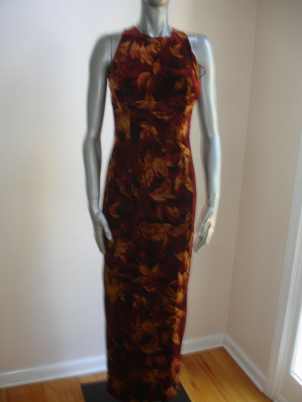 VINTAGE ANDREA POLIZZI REX LESTER WOMEN DRESS size 2 BROWN FORMAL GOWN PROM