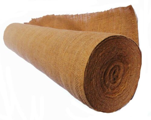 """20 Yard Length No Fray Jute-Burlap fabric 60ft long Burlap Roll 11oz 48/"""" Wide"""