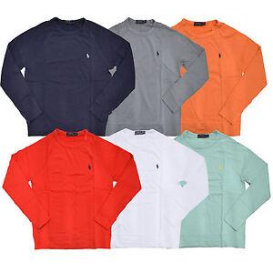 Polo-Ralph-Lauren-Sweatshirt-Mens-Terry-Cloth-Crew-Neck-Pullover-Pony-Logo-New