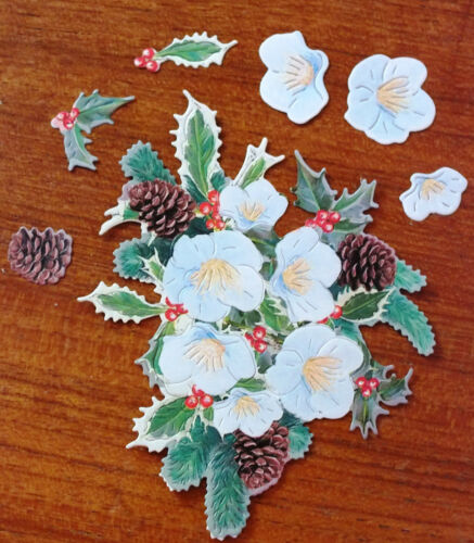 x 6 SETS TATTERED LACE CHARISMA 250gsm DIE CUTS HOLLY 10 Colour Combinations