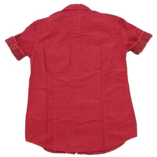 7228P camicia uomo rossa BERNA manica corta shirt men short sleeves