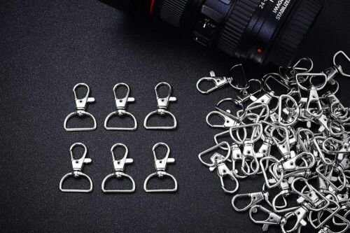 D Ring Clip Keychain Lanyard Swivel Snap Hooks Clip on Key Ring for Crafts