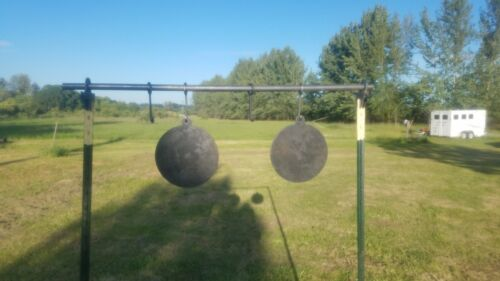 T post Conduit Target Stand NEW 2 Pack W// Gong Hanger hooks