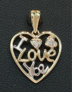 9-Carat-Yellow-Gold-Diamond-Set-039-I-Love-You-039-Heart-Pendant-80-19-221