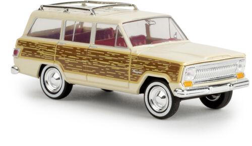 "Brekina 19857 TD H0 Car Model 1:87 Jeep Wagoneer /"" Woody /"" Light Ivory"