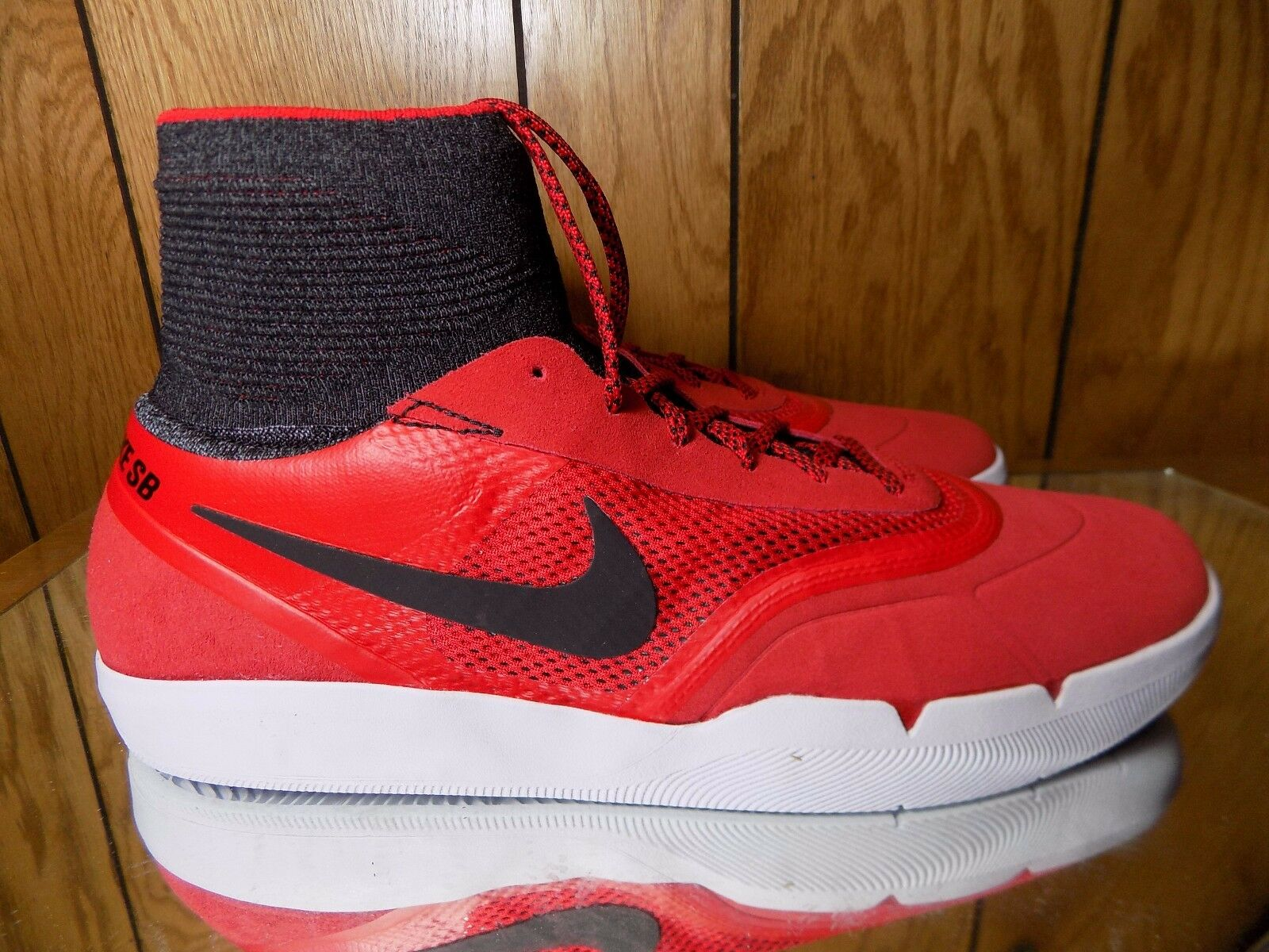 Nike sb - hyperfeel koston 3 rosso - sb nero Uomo skateboard scarpe 819673-601 sz 12 62c35f