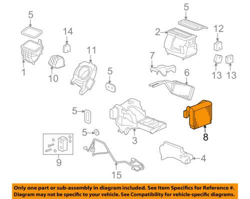 Hummer GM OEM 06-10 H3-A//C AC Evaporator Core 24301327