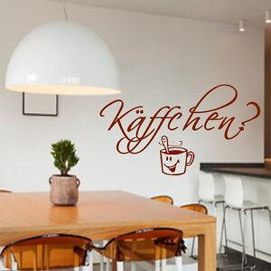 Kaffchen Wandtattoo Wt1 Kaffee Sticker Kuche Aufkleber Spruch