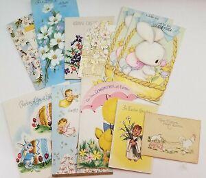 Vintage-Easter-Cards-Lot-of-11-Bunny-Rabbits-Angel-Choir-Boy
