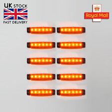 10 X 12v Smd Led Orange Indicator Recover Side Marker Light Truck Lorry Trailer