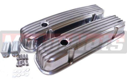 Pontiac Nostalgic Retro Finned Polish Aluminum Valve Cover 326 350 389 400 455v8