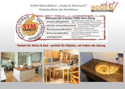 Landhausdiele XXL EicheParkett 3Schicht TUNGgeölt lebhaft Dark CLIC ab 29,90 €//m