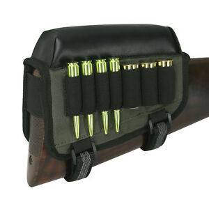 Tourbon-Rifle-Shotgun-Ammo-Bag-Shell-Holder-Cheek-Piece-Rest-Pad-Buttstock-Right
