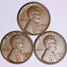 1936 + 1936-D + 1936-S  Lincoln Wheat Cents LOWEST PRICES ON THE BAY! FREE S/H