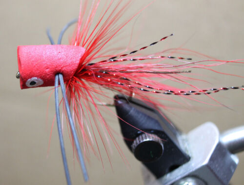 BASS FOAM POPPERS 15 COLORS FLY FISHING TROUT BLUEGILL PANFISH SIZE 6 HOOKS