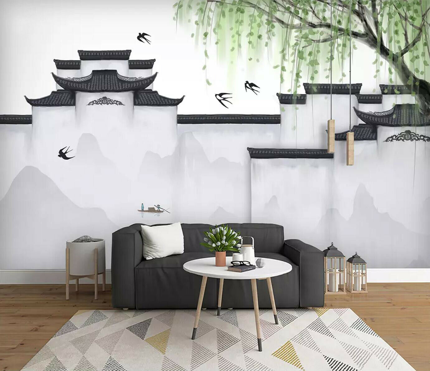 3D Ancient Town 56 Wall Paper Exclusive MXY Wallpaper Mural Decal Indoor wall