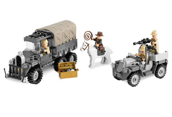 LEGO 7622 - INDIANA JONES - Race for the Stolen Treasure - NO BOX - 2008 - VHTF