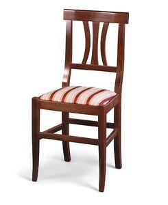 Sedie Di Legno Imbottite.Dettagli Su Sedia In Legno Imbottita Arte Povera Ordine Minimo 4 Pezzi