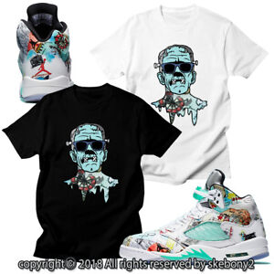 new product 5aaad 94bf8 Details about CUSTOM T SHIRT MATCHING STYLE OF Air Jordan 5 WINGS Features  JD 5-1-14-1