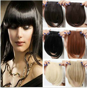 Girls-Straight-Synthetic-Hair-Fringe-Bang-Hairpiece-Clip-In-Front-Hair-Extension