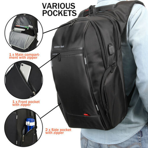 """ANMAS BOX Anti-theft Notebook Backpack with USB Port Bag for laptop 15.6/"""" 17.3/"""""""