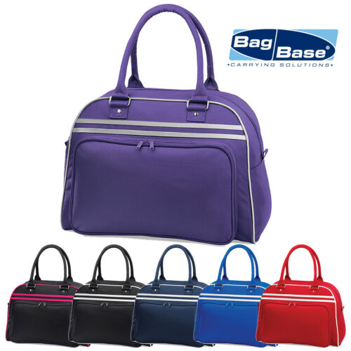 BagBase Retro Bowling Styling Bag Unisex Weekend Overnight Gym Dance Fitness Bag