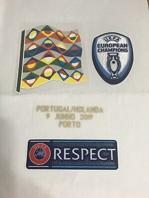 2019 Uefa Nations League Final For Portugal Jersey Patch Badge Netherlands Ebay