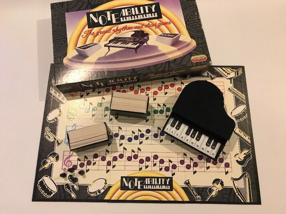 Noteability Piano Music Board Game 1990 Spear's Games Family Board Game