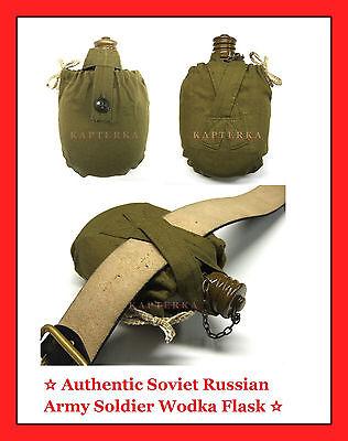 ☆ soviet russian army soldier field water & vodka Flask, 0.7L canteen bottle ☆