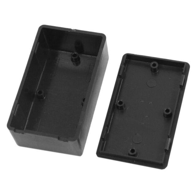 5 x Electronic Project Box Black/ Plastic Enclosure Instrument Case