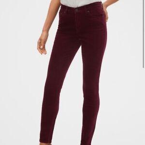 Banana-Republic-Womens-Corduroy-Skinny-Pants-Color-Burgundy-NWT-Size-26-2-amp-28-6