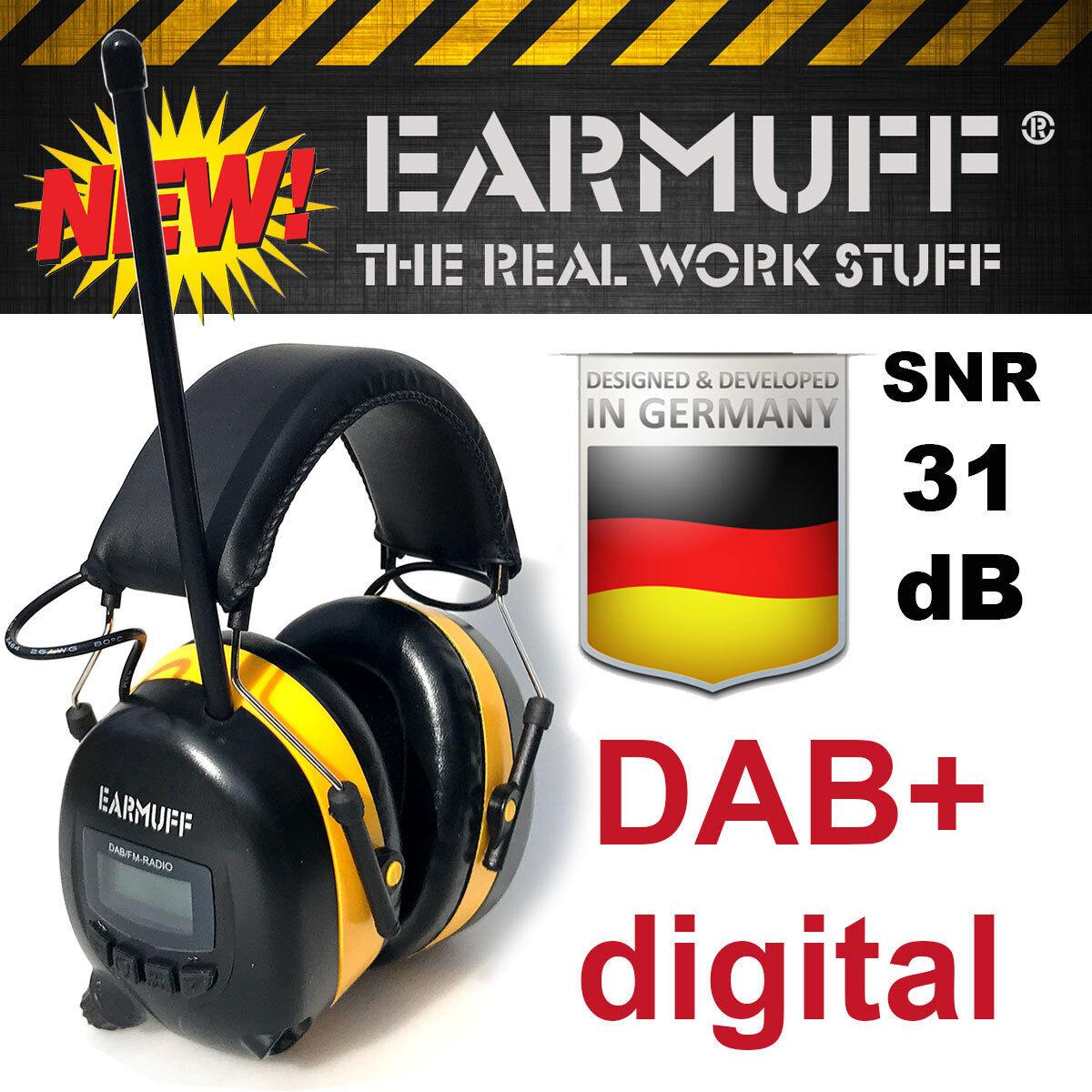 Original -31dB EARMUFF Gehörschutz Gehörschutz Gehörschutz DAB+ DIGITAL Radio mit Lithium Akku b55d7f