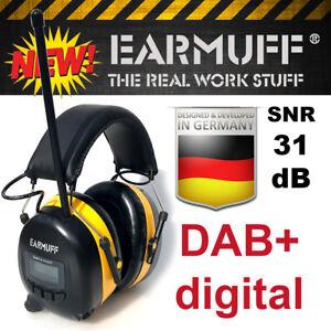 Original-31dB-EARMUFF-Gehoerschutz-DAB-DIGITAL-Radio-mit-Lithium-Akku