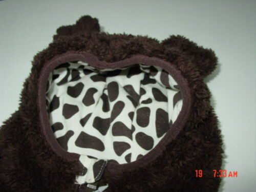 NWT Falls Creek Baby Infant Unisex Bear Pram Bunting Snowsuit Brown NEW UNUSED