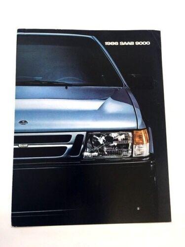 1986 SAAB 9000 Original Car Sales Brochure Folder