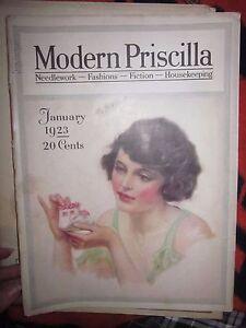 ANTIQUE-JANUARY-1923-MODERN-PRISCILLA-MAGAZINE-FLAPPER-STYLE-FASHIONS-ADS