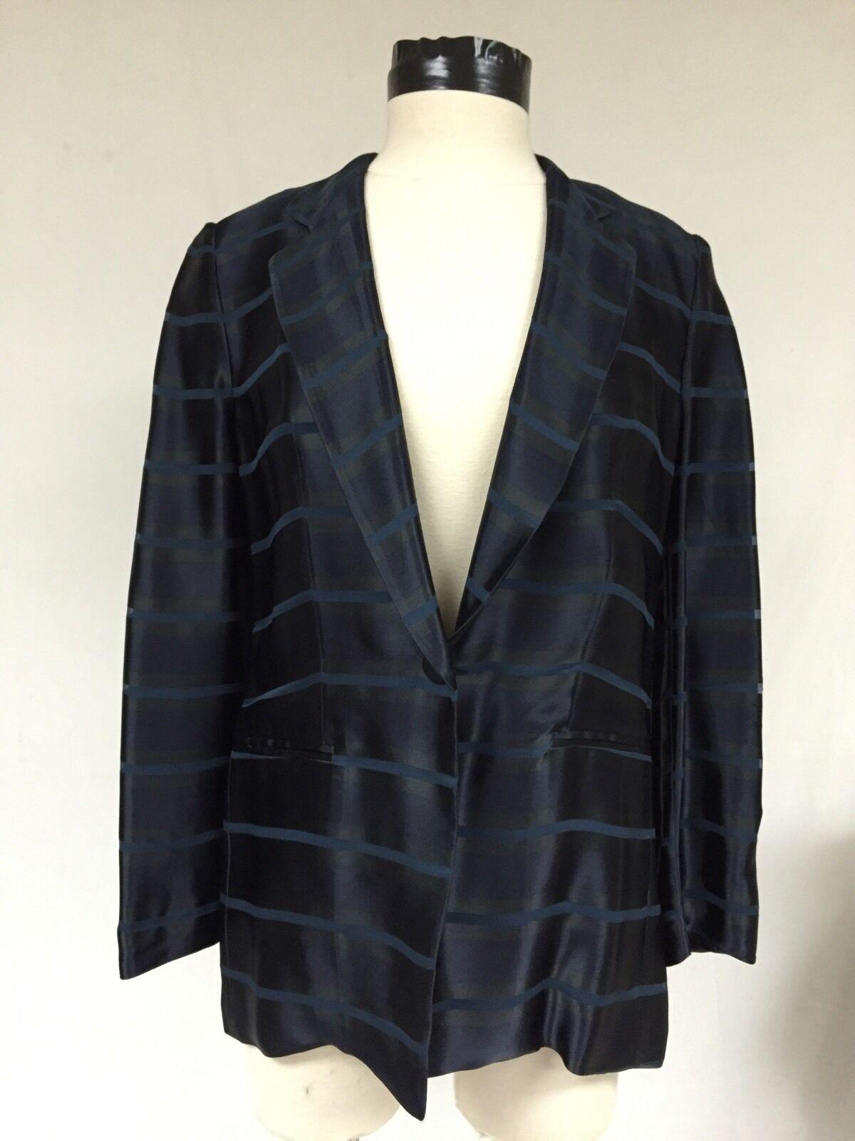 Giorgio Armani  Blau Silk Blend Jacket, Größe 6