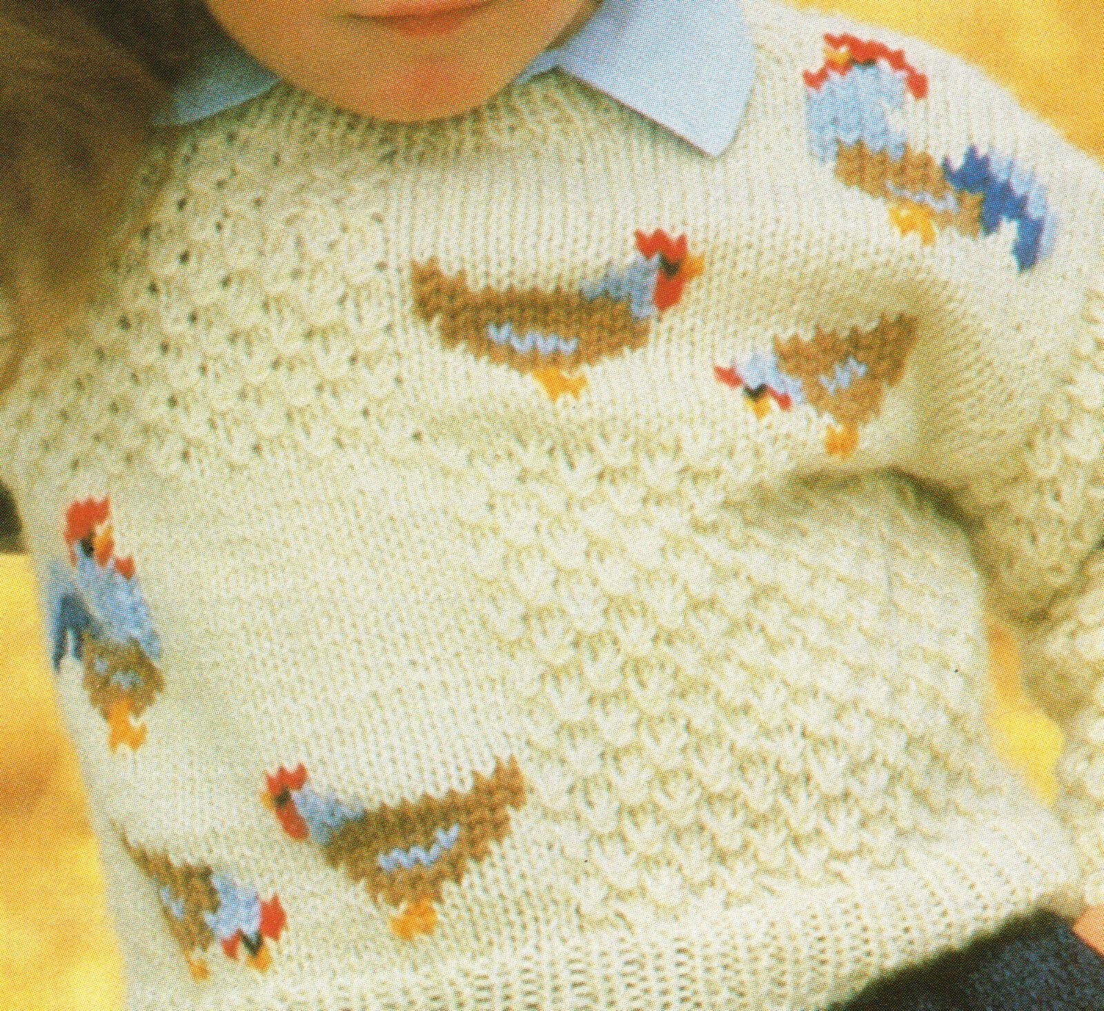 Knitting Pattern For Chicken Jumpers : Swiss Darned Chicken Jumper 22