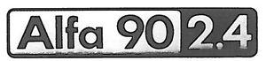 TARGHETTA-FREGIO-SIGLA-Badge-EMBLEM-ALFA-ROMEO-ALFA-90-2-4-POSTERIORE