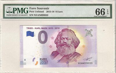 Karl Marx Trier 0 Euro Souvenir Banknote Uncirculated 004961