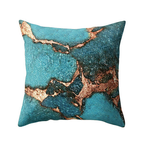 Marble Texture Printed Throw Pillow Case Cushion Cover Bed Sofa Home Decoration