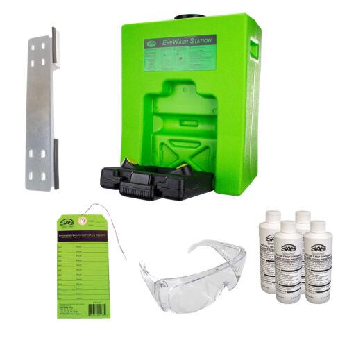 OSHA Compliant. Emergency 9 Gal Eye Wash Safety Station Value Package SAS 5134