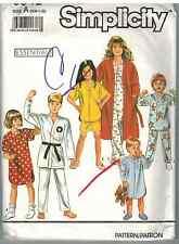 SIMPLICITY # 9936 9942 CHILDS NIGHTSHIRT SHORTS /&ROBE PATTERN 3-14u PANTS