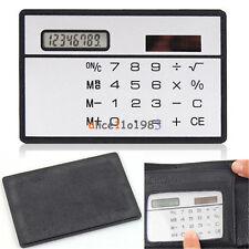 8 Digits Ultra Thin Mini Slim Credit Card Solar Power Pocket Calculator W
