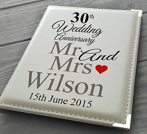 "Details about Personalised 7x5"" x 36 photo album, memory book, 30th Wedding Anniversary gift"