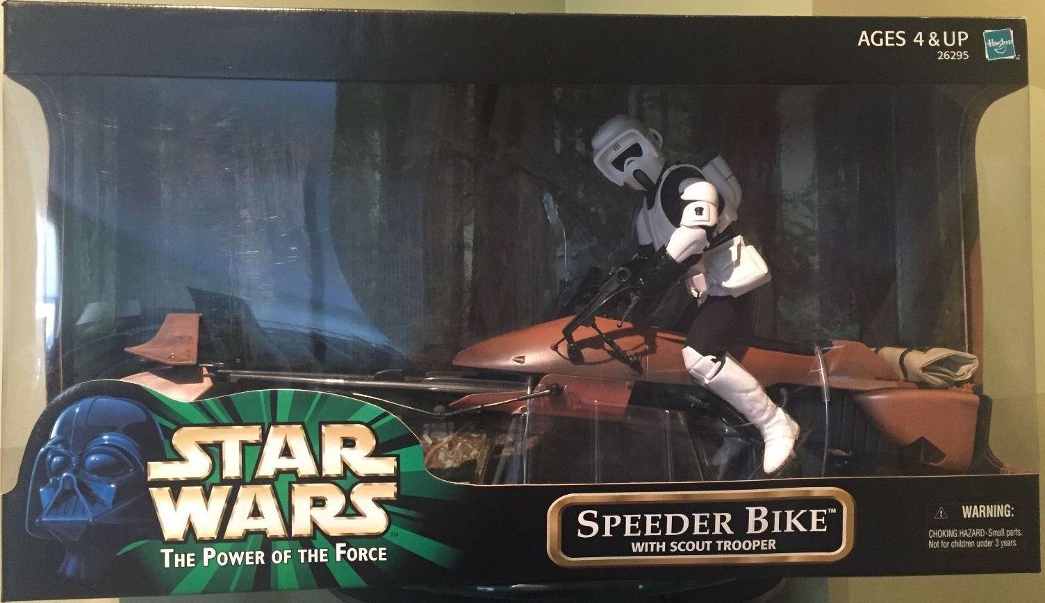 Hasbro Star Wars Power of The Force Speeder Fahrrad 12  w Fahrradr Scout NEW